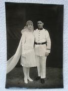 Photo Sr LAURENT Du Maroc Le 9 Février 1928 / Couple Mariage / Personnage à Identifier écrit Au Dos - Personnes Identifiées
