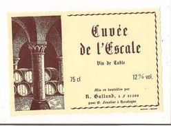 Etiquette Cuvée De L'Escale - Vin De Table - R.Galland - Pour Fenollar à Recologne - - Rotwein