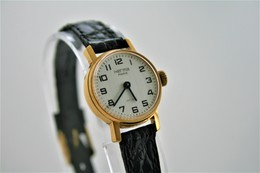Watches : HERMA PARIS LADIES HAND WIND (WITH HIFI) - Original - Swiss Made - Color : Gold - Running - Excelent Condition - Montres Modernes