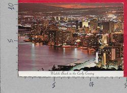 CARTOLINA VG STATI UNITI - WAIKIKI BEACH In The Early Evening - 10 X 15 - ANN. 1979 HONOLULU - Honolulu