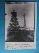 17 : LA TREMBLADE; LA COUBRE ,ANCIEN Et NOUVEAU PHARE  ,( Tirage Photo D'une C.P.A En Très Bon état) - Leuchttürme