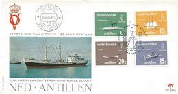 Netherlands Antilles 1967 Curacao Sailing Ship Tanker Passenger Ship FDC Cover - Maritiem