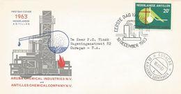 Netherlands Antilles 1963 Curacao Chemical Industry Aruba FDC Cover - Fabrieken En Industrieën