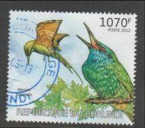 9] 1 Timbre Oblitéré 1 Used Stamp Burundi Oiseau Bird 2012 Merops Orientalis - Burundi