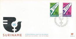 Surinam Suriname 1975 Paramaribo International Woman Year FDC Cover - Suriname