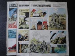 Bob Morane Le Temple Des Dinosaures Prépublication Femmes D'Aujourd'hui  3  Planches H. Vernes . TBE - Bob Morane