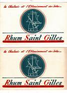 PUB - 2 Buvards Rhum Saint Gilles - Liquor & Beer