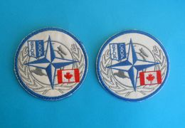 SFOR - United Nations Peacekeeping Mission In Bosnia * CANADA ARMY Official Patch - Two Models * UN Forces Armee Ecusson - Patches