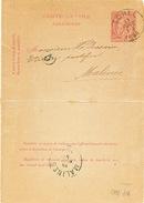 806/25 - Carte-Lettre Type TP 46 ACHEL 1888 Vers MALINES - NIPA 200 - Letter-Cards