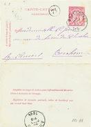 807/25 - Carte-Lettre Type TP 46 BRASSCHAET 1894 Vers BERCHEM Anvers - Signée Bosschaert - Letter-Cards