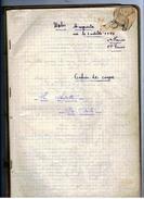 CAHIER De COUPE  Sur La Layette De Bèbè ( Cahier D'ècole) De 1936 - Patrons