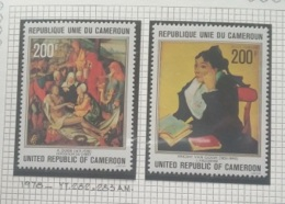 "P7 Paintings - Cameroon 1978 Yv. 282-283AM Cplte Set 2v. MNH - ""L'Arlesienne"" Van Gogh & ""Deposition Of Christ"" Dure - Cameroon (1960-...)"