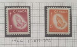P7 Paintings - Canada 1966 Yv. 375-376 Complete Set 2v. MNH - Christmas - Cameroon (1960-...)