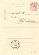 812/25 - Carte-Lettre Type TP 46 THY LE CHATEAU 1890 Vers MORIALME - Signé Haverland - Letter-Cards