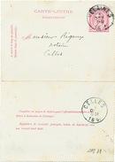 813/25 - Carte-Lettre Type TP 46 VELAINES 1893 Vers Notaire Rigaux à CELLES - Letter-Cards