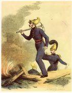 Gravure 24cm X 30 Cm - Caporal En Tenue D' Incendie - LOUIS PHILIPPE - Old Paper