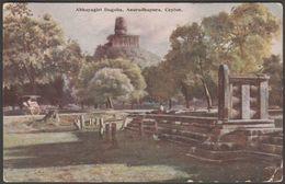 Abhayagiri Dagoba, Anuradhapura, Ceylon, C.1910 - Plâté Postcard - Sri Lanka (Ceylon)