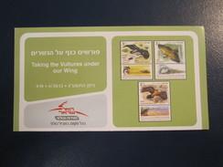 ISRAEL STAMP FIRST DAY ISSUE BOOKLET 2013 BIRD VULTURE HOLY LAND POSTAL HISTORY AIRMAIL JERUSALEM TEL AVIV POST JUDAICA - Postzegels