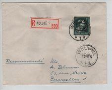 TP 724 W Surcharge Locale -10% Woluwé S/L.recommandée C.Woluwé 6/6/1946 V.BXL C.d'arrivée PR5021 - Briefe U. Dokumente