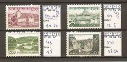 Finlande 1963/72 -  Petit Lot De 4 MNH - YT 542/44/48/49 - Gorges à Kunsamo - Port D'Helsinki - Forteresse D'Olavinlinna - Briefmarken
