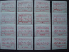 LUXEMBURG 1983 ATM 4 SETS P2501-2-3-4  4F 7F 10F 50F - Vignettes D'affranchissement