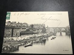 28 - LIMOGES Le Pont Neuf Et L'Abessaille - 1911 Timbrée - Limoges
