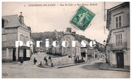 76    Caudebec En Caux  Café Vve Billaux  Rue St Clair - Caudebec-en-Caux