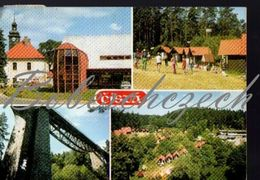 2 54 CZECHOSLOVAKIA 1983 Cista District Rakovnik  Railway Bridge Cista Camping Market, Cars - Handel
