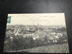 45 - LIMOGES Vue Générale - 1911 Timbrée - Limoges