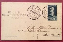 MODA TESSUTI FASCISMO  P.N.F. MOSTRA TESSILE NAZIONALE A ROMA 7/1/1938 ANNULLI SPECIALI - Otros