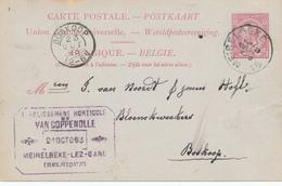 822/25 - Entier Postal Type TP 46 MEIRELBEKE 1893 Vers BOSKOOP NL - Cachet Horticulture Van Coppenolle - Stamped Stationery