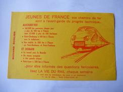 Buvard LA VIE DU RAIL - SNCF - TGV  . Détails 2 Scans. - Transport