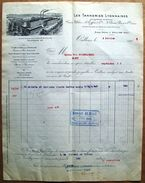 FACTURE Des TANNERIES LYONNAISES, Oullins (Rhône), 1909 - France