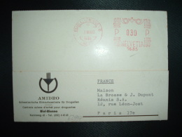 CP EMA 1685 à 030 Du 3 VI 60 BIEL (BIENNE) 8 METT + AMIDRO CENTRALE SUISSE D'ACHAT POUR DROGUERIES - Covers & Documents