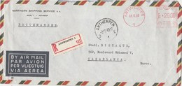 Belgique Lettre Recommandée EMA Entête  Nothern Shipping Service  ANVERS 8/12/1960  Pour Casablanca Maroc - Franking Machines