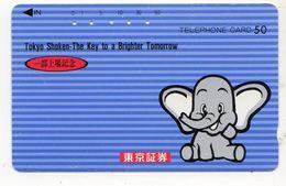 JAPON  TELECARTE ELEPHANT - Télécartes