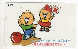 JAPON TELECARTE SPORT BOWLING - Sport