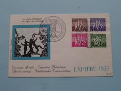 Filatelistische TENTOONSTELLING Philatélique Exposition EXPHIBE 1955 ( Zie Foto's / Rodan Bruxelles ) 1955 ! - FDC
