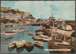 Inner Harbour, Mevagissey, Cornwall, 1961 - Harvey Barton Postcard - England