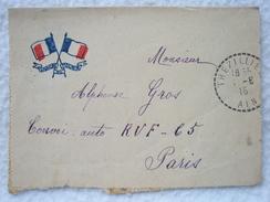 Lettre D'un Ancien Poilu De 1915 Convoi Auto RVF // 41ème Division Secteur 44 / WW1 1914/1918 - Documents Historiques