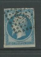 France 1853 Napoleon 20 Cents Blue - 1853-1860 Napoleon III