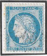 TIMBRE PLANCHE D1; POSITION 128 D1;  REMPLAÇANT DE LA GRANDE TACHE DE JUIN ;  RARE ;TB - 1871-1875 Cérès