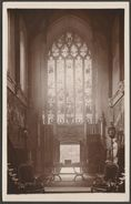 Unidentified Church Interior, United Kingdom, C.1910s - RP Postcard - To Identify