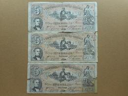 United States 5 Dollars 1861 (Lot Of 3 Banknotes) (FAKE) - Valuta Van De Bondsstaat (1861-1864)
