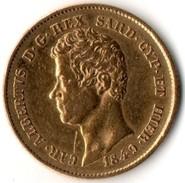 20 Lire Or Charles Albert Royaume De Sardaigne Italie - Italy