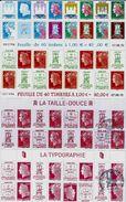 PÉRIGUEUX 40 ème ANNIVERSAIRE JAMAIS PROPOSER BANDES DE 8 TIMBRES NEUFS** N° 4459 A 4472 AVEC CHEFFER TÊTE BÊCHE - Unused Stamps