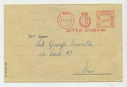 CITTA' DI BARI - 1969 - Affrancatura Meccanica Rossa (EMA) - Affrancature Meccaniche Rosse (EMA)