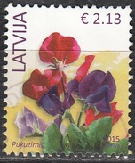 Latvija 2015 Fleur 2.13 Euro O Cachet Rond - Lettonie
