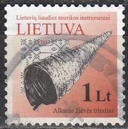 Lietuva 2012 Michel 1090I O Cote (2013) 0.80 Euro Corne En Bois Cachet Rond - Lituanie