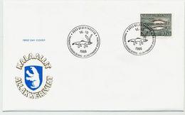 GREENLAND 1986 Fish Definitive 10 Kr. On FDC. Michel 168 - FDC